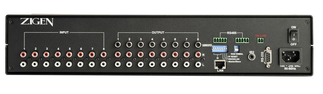 Цифровой аудио коммутатор стерео 8 х 8 управляемый AX-88 купить заказать