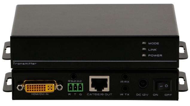 Комплект передатчик и приёмник DVI, IR, RS232 по витой паре HDBT-DVI-70TR купить заказать