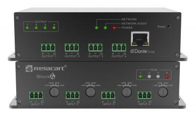Аудио интерфейс Mic/Line 4 in х 4 out сетевой с DANTE PoE Block 4 i/o купить заказать