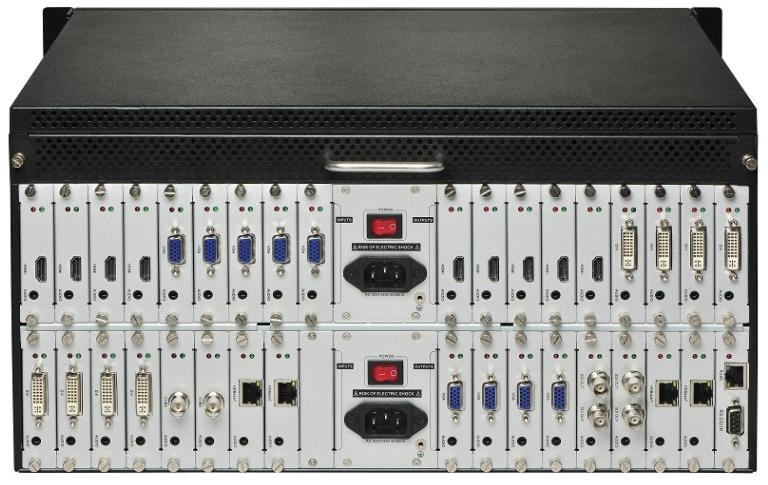 Матричный коммутатор 18 x 18 модульный с поддержкой 4K и бесподрывной коммутацией MM-1800 купить закзать