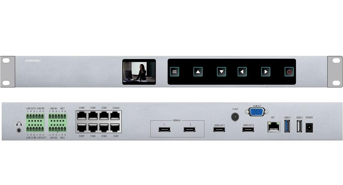 VIS-CRS02 Многоканальный аудио и видеорекордер 2 x HDMI c трансляцией в сеть и управлением PTZ камерами HDD 1TB VIS-CRS02 купить заказать