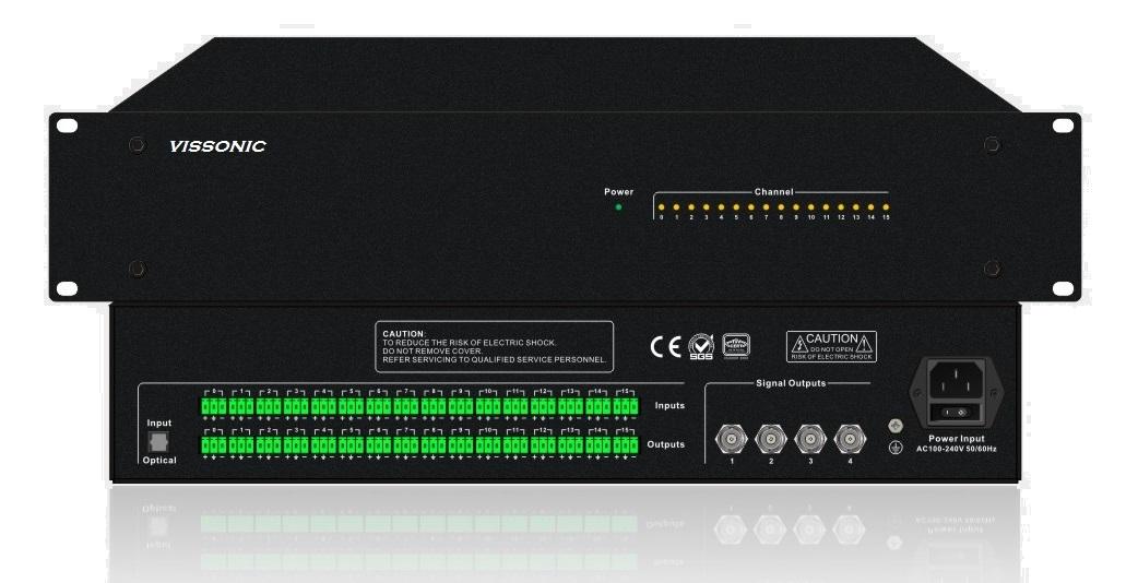 Цифровой ИК передатчик системы синхронного перевода на 16 каналов VIS-VLI700 купить заказать