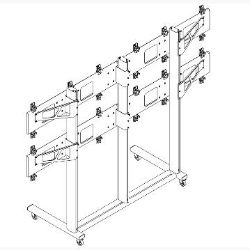 Напольная стойка для видеостены 3х2 FS3x2 купить заказать
