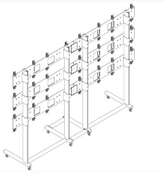Напольная стойка для видеостены 4х3 FS4x3 купить заказать